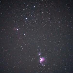 赤道儀なしでオリオン大星雲を撮る