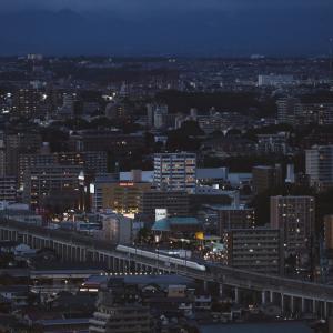 2020/07/19 夜景と新幹線を狙う