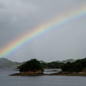 ある日の天草の虹