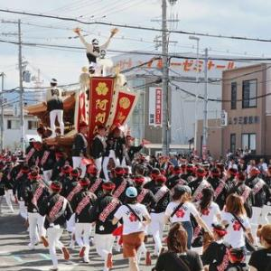 2019年東岸和田だんじり祭(10月祭礼)試験曳き 阿間河瀧町
