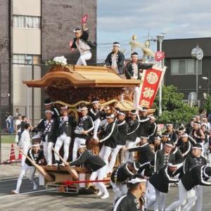 2019年東岸和田だんじり祭(10月祭礼)試験曳き  極楽寺町