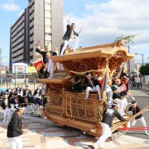 2019年東岸和田だんじり祭(10月祭礼)試験曳き 神須屋町