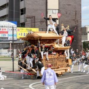 2019年東岸和田だんじり祭(10月祭礼)試験曳き 真上町