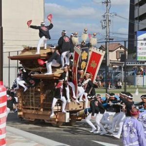 2019年東岸和田だんじり祭(10月祭礼)試験曳き 作才町