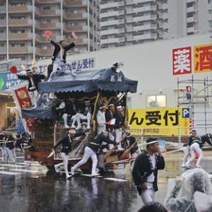 2019年東岸和田だんじり祭(10月祭礼)宵宮 葛城町