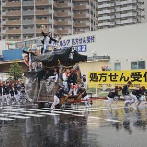2019年東岸和田だんじり祭(10月祭礼)宵宮 阿間河瀧町