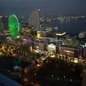 横浜の夜景・・・みなとみらいと大観覧車
