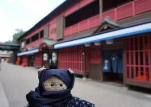「東映太秦映画村」でアトラクション「謎解き迷路まぼろし砦」にチャレンジ。