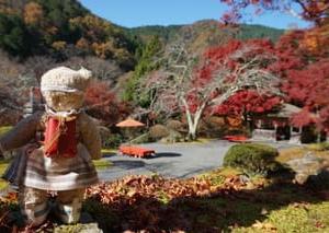 京都鞍馬二ノ瀬「白龍園」。この秋の紅葉も見事~!園内をはじめ、山を染める秋の色