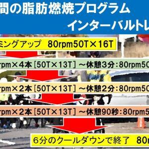 【30分間脂肪燃焼プログラム≒Av:38.3km/h】