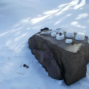 雪のキャンドル