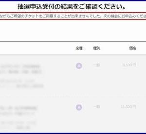 2020東京五輪チケットの追加販売の抽選結果 (2019年9月)