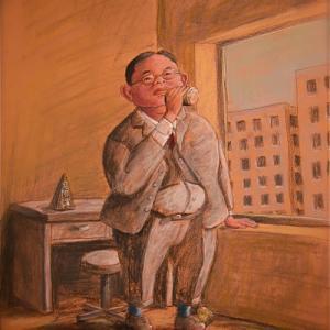 パステルでパステル画家のパステル画・45才定年「やってみなはれ」