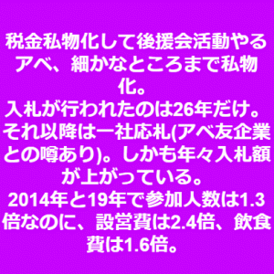 「『桜を見る会』急に中止だあ?ますます怪しいわ!!」No.2684