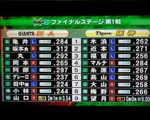 CSファイナルステージ第1戦