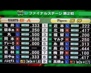 CSファイナルステージ第2戦