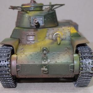 97式戦車を作る(プラモデル)
