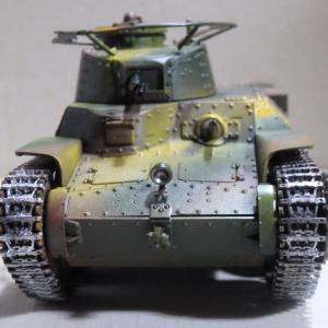 97式戦車完成(プラモデル)