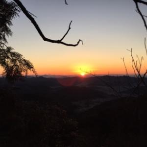正月早朝トレイルランラン