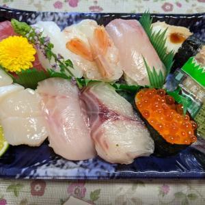 魚悦の握り寿司美味しかったわ〜🎶