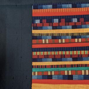 手芸教室で端切れ布を頂きました