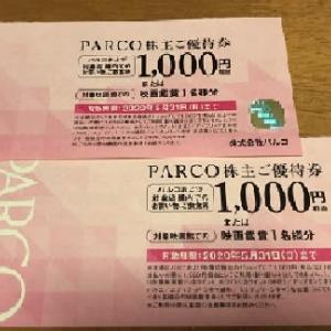 PARCOから株主優待をいただきました