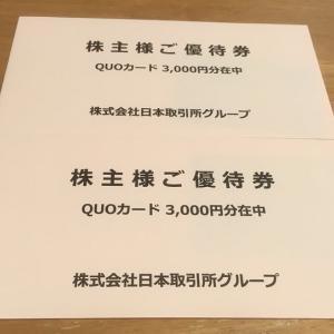 日本取引所グループから株主優待をいただきました