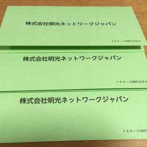 明光ネットワークジャパンから株主優待をいただきました