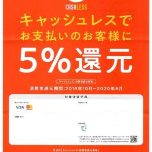 キャッシュレス・消費者還元事業 加盟店登録完了しました!