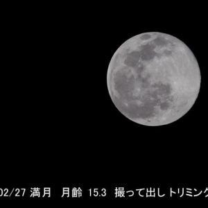 今夜、満月を撮った