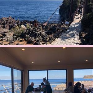 キンメを食べに稲取を目指すも、挫折して城ヶ崎海岸と海鮮丼に。