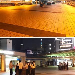 上野・パンダ橋では沢山のサラリーマンが飲酒を楽しむ光景が・・・。