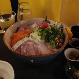 海鮮丼とインターバルT
