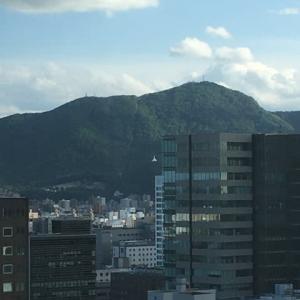 ホテル21階からの藻岩山です