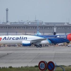 エアカランの新機材A330-900の2号機が関空へ飛来