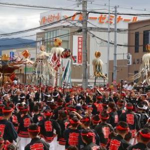 2019年東岸和田だんじり祭り 試験曳き(セレモニー)