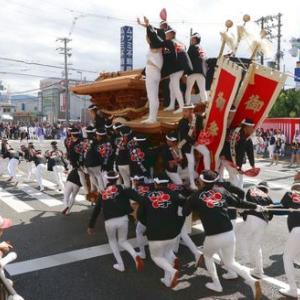 2019年東岸和田だんじり祭り 試験曳き(曳行)