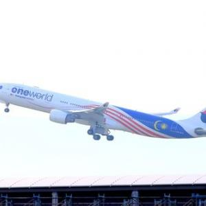 マレーシア航空のワンワールド新塗装機を撮影に関空へ