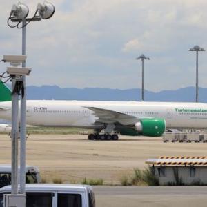 トルクメニスタン航空が関空に飛来
