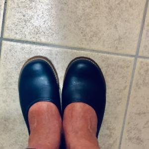 靴に合わせる足