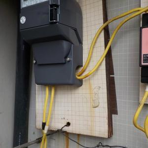 21日 松戸市マンション 共用盤のメーター板交換工事