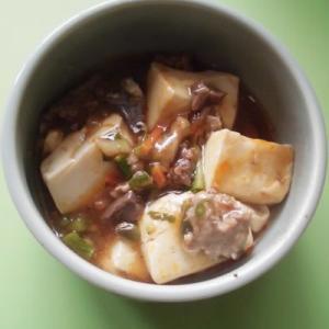 日の丸うどんと鹿肉入り麻婆豆腐