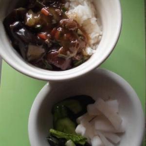 今度はナスの麻婆豆腐
