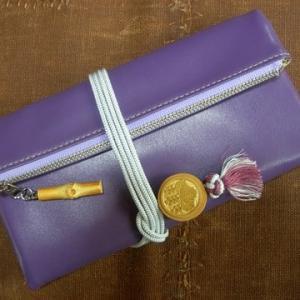 プロトタイプの本革製道中財布