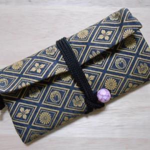 濃紺デニム製の道中財布