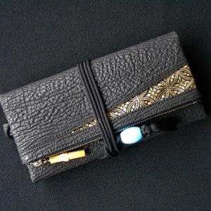 鮫革の道中財布が仕上がってきました!!