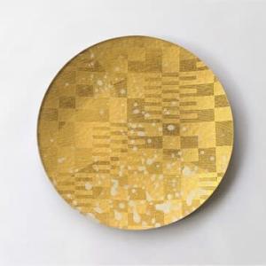 金彩ガラス皿 飛沫