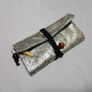 オーダーの道中財布の納品