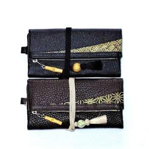 本革製道中財布の納品