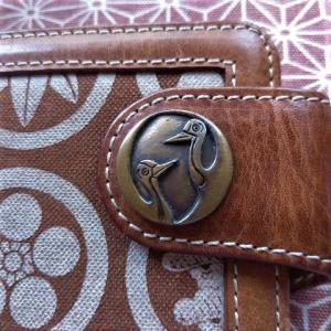 二鶴マークの真鍮製コンチョ